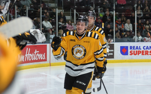 Sarnia Sting forward Jacob Perreault. (Photo courtesy of Metcalfe Photography)