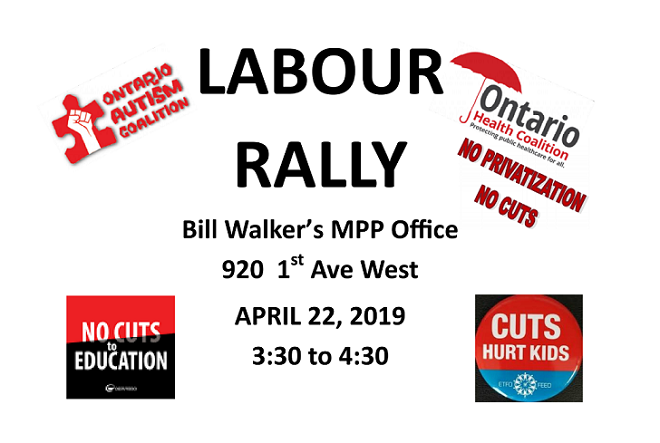 Labour Rally in Owen Sound Monday afternoon