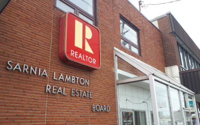 Sarnia Lambton Real Estate Board office of Exmouth Street. (BlackburnNews photo)