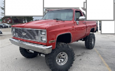 Red, lifted 1987 C10 was stolen from a residence on Highway 9 in Walkerton. Police say it has a loud exhaust. Photo courtesy of the OPP.