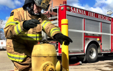 Sarnia firefighters training. April 9, 2019. (Photo by Sarnia Fire)