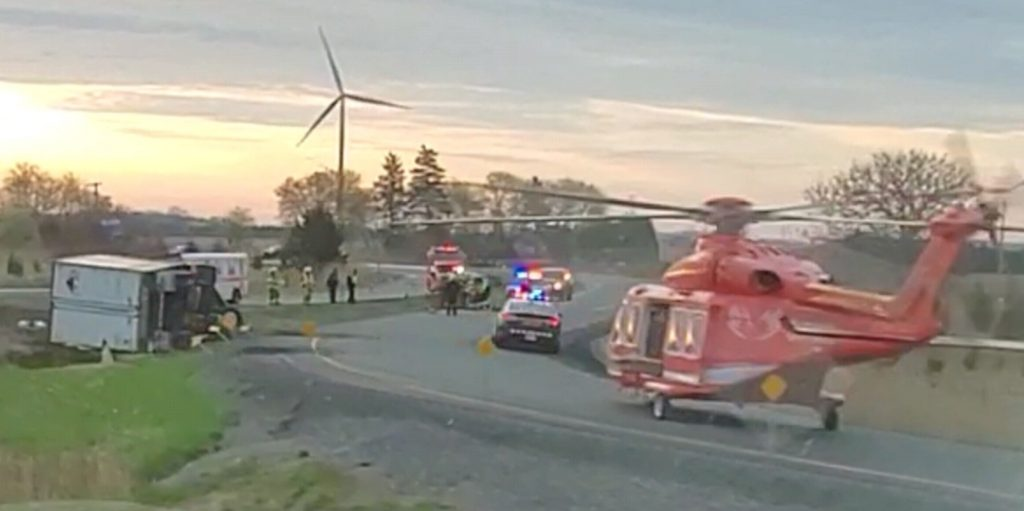 BlackburnNews com - UPDATE: One person airlifted to hospital after