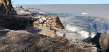 Damage to the shoreline along the former Old Lakeshore Road allowance in Bright's Grove. Photo courtesy of the City of Sarnia March 28, 2019