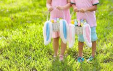 Children collect Easter eggs file photo courtesy of © Can Stock Photo / famveldman