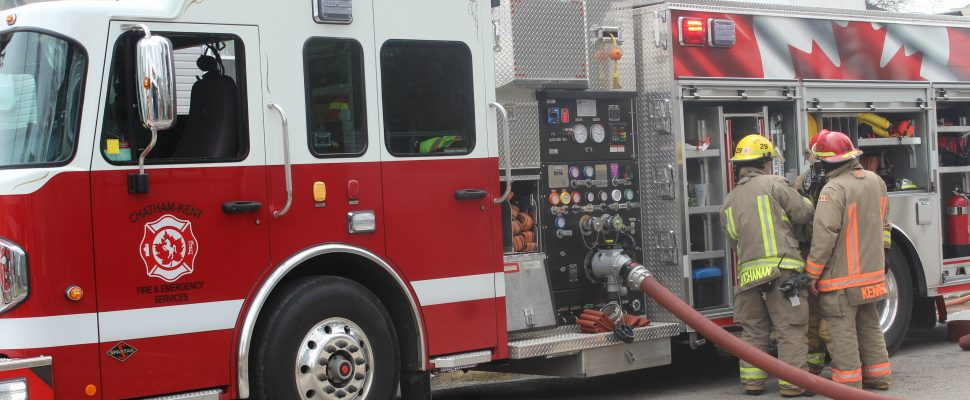 Chatham-Kent fire truck. (Photo by Allanah Wills)
