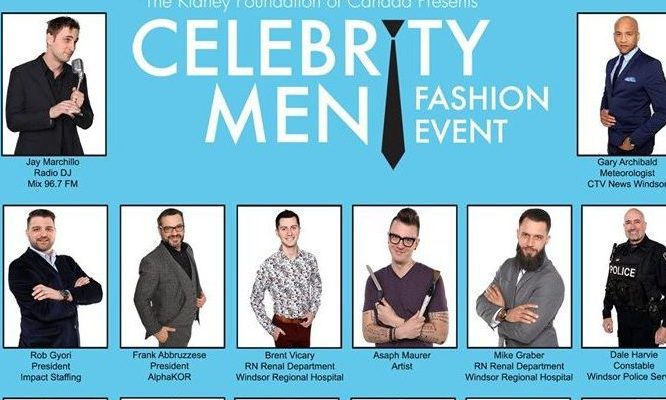 4th annual Celebrity Men Fashion Event. May 9, 2019. (Photo courtesy of the Windsor and District Chapter of the Kidney Foundation of Canada)