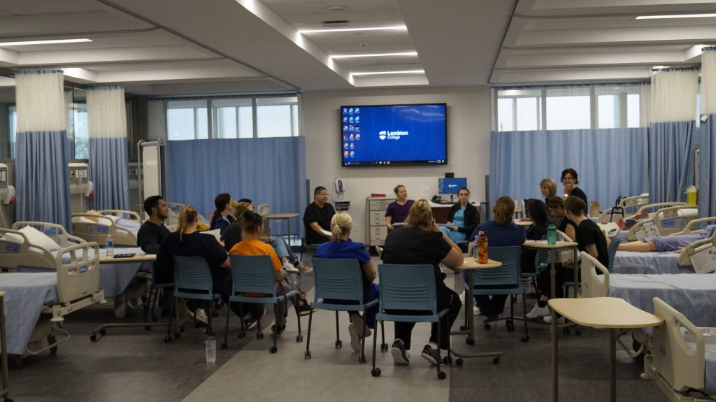 NOVA Chemicals Health & Research Centre Nursing Lab May 15, 2019. (Photo by Melanie Irwin, Blackburn News)