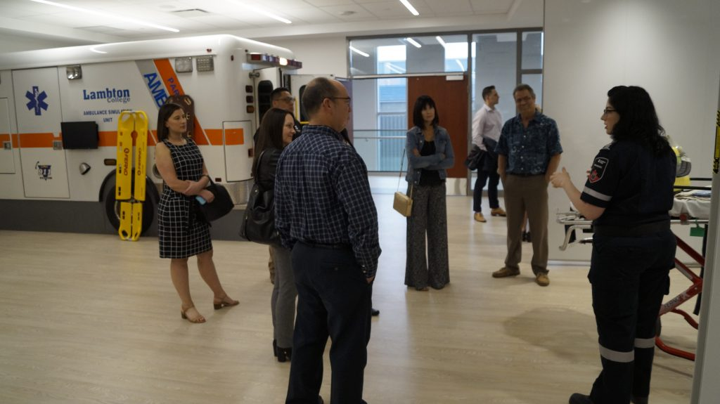 NOVA Chemicals Health & Research Centre Paramedic Lab May 15, 2019. (Photo by Melanie Irwin, Blackburn News)