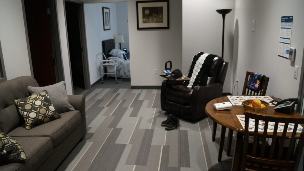 NOVA Chemicals Health & Research Centre Simulation Apartment May 15, 2019. (Photo by Melanie Irwin, Blackburn News)