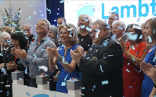 Donors and local dignitaries gathered to celebrate the opening of Lambton College's new NOVA Chemicals Health & Research Centre. May 15, 2019. (Photo by Melanie Irwin, Blackburn News)