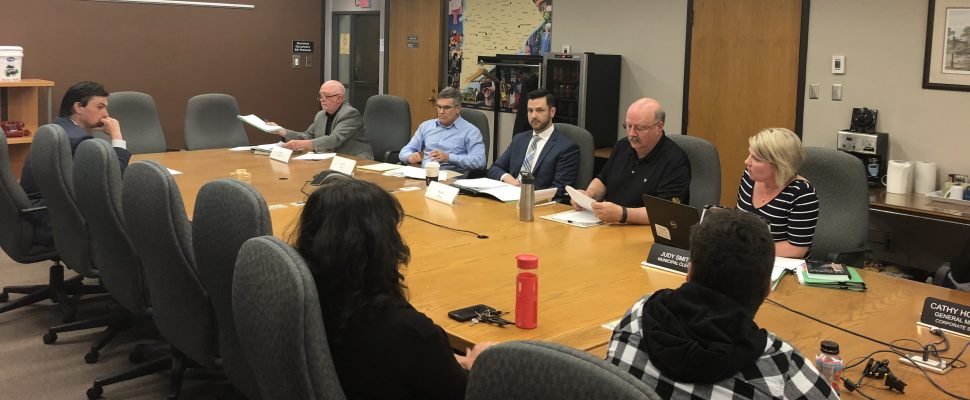 Chatham-Kent's audit committee reviews complaints made against municipal election candidates at the Civic Centre in Chatham, May 22, 2019. (Photo by Allanah Wills)