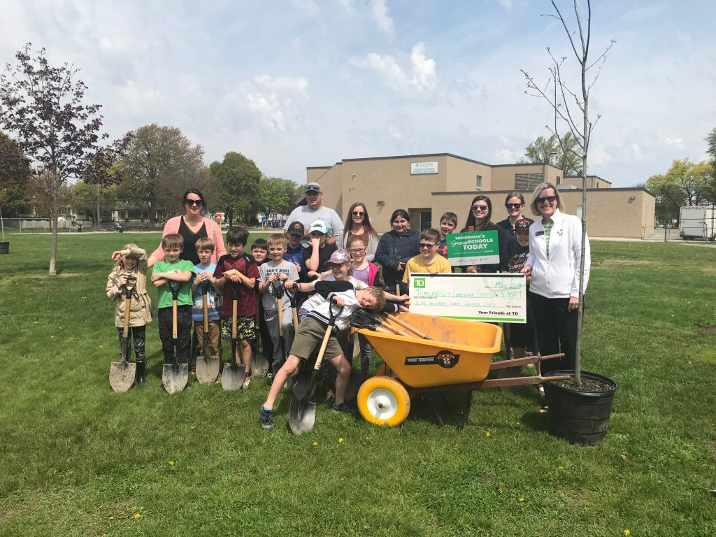 TD Bank presents a cheque for the Tomorrow's Greener Schools Today program. May 16, 2019 Photo by Melanie Irwin