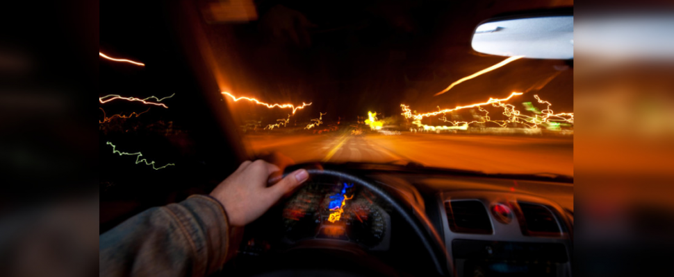 Point of view of an impaired driver. (Photo by U.S. Air ForceAirman 1st Class Zachary Hada/Released)