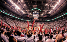 Raptor fans in Toronto. April 24, 2014. (Photo by Shaheen Karolia)