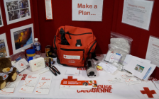 Red Cross emergency kit. May 10, 2019. (Photo by Colin Gowdy, BlackburnNews)