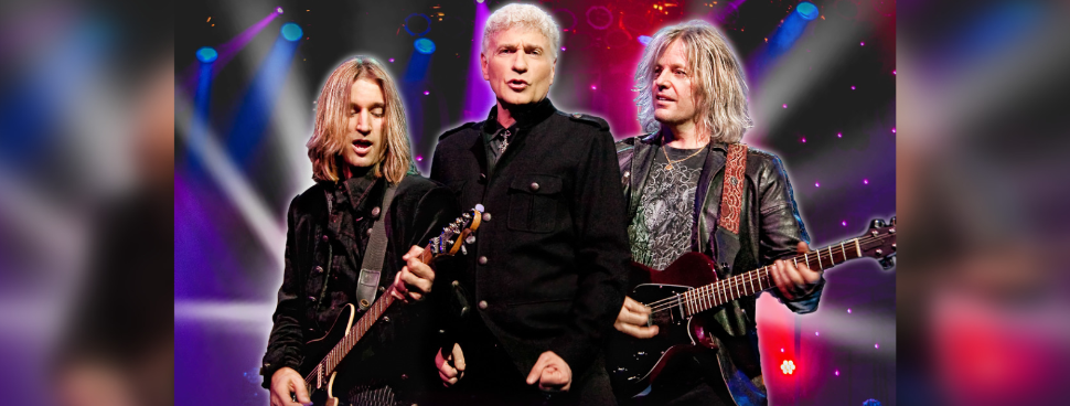 (From left to right) August Zadra, Dennis DeYoung, and Jimmy Leahey. (Photo courtesy of Bluewater Borderfest)