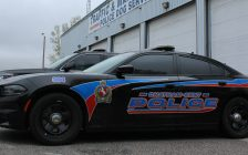 Chatham-Kent police cruiser parked at the traffic unit headquarters on Dillon Road. (Photo by Matt Weverink)