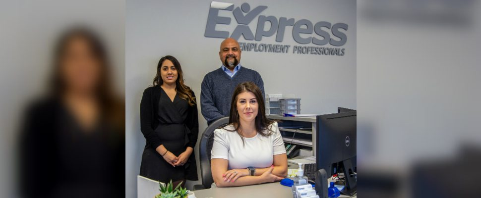 Staff at Express Employment Professionals (photo courtesy Municipality of Chatham-Kent)