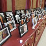 Frames photos of missing or murdered Indigenous woman at Atlohsa Family Healing Services on Richmond Street. (Photo by Miranda Chant, Blackburn News)