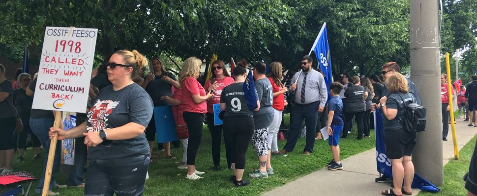 Public school teacher unions in the Windsor area have been told there will be cuts over the next 4 years because of larger class sizes. June 18, 2019. (Photo by Paul Pedro)