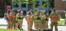 London firefighters were called to an incident involving an unknown chemical at Fanshawe College, June 3, 2019. (Photo by Miranda Chant, Blackburn News)