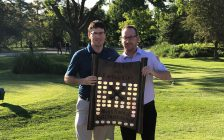 Graham Hill (left) and Associate Professional Jeff Yates (left). Photo supplied by Sarnia Golf & Curling Club.
