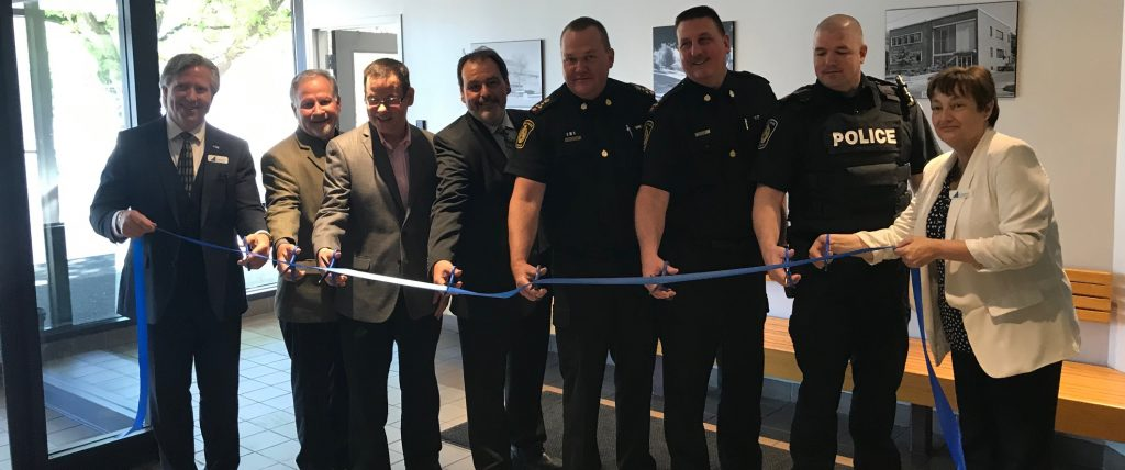 Ribbon cutting ceremony at Sarnia's new Collision Reporting Centre. June 11, 2019 Photo by Melanie Irwin