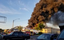Fire at Serbu Tire in Windsor on June 23, 2019 (photo courtesy Connie Anderson)