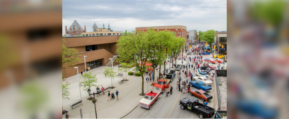Classic cars lining the streets of Downtown Chatham during Retrofest (Photo courtesy RM Sotheby's)