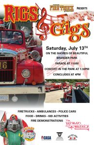 Vintage Fire Truck & Equipment Rigs and Gigs poster.