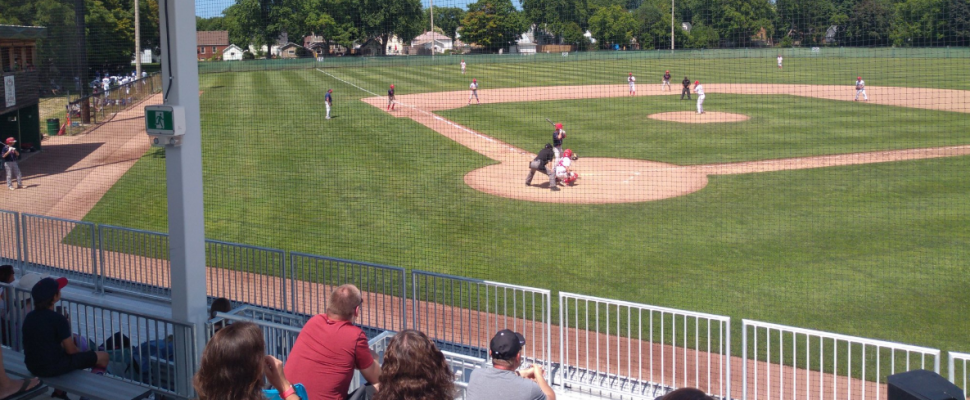 Errol Russell Park in Sarnia. July 2019. (Photo by Sarnia Brave Baseball Club)