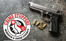 Cash rewards are again being offered to try and get illegal firearms off Windsor area streets. July 12, 2019. (Photo courtesy of Windsor and Essex County Crime Stoppers)