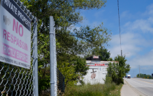 Former Holmes Foundry site near the corner of Christina Street and Exmouth Street in Point Edward. July 11, 2019. (BlackburnNews photo by Colin Gowdy)