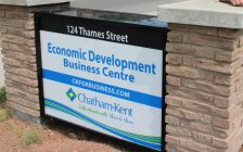 The Economic Development Business Centre in Chatham on July 9, 2019 (Photo by Allanah Wills)