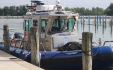 TThe marine unit for Windsor Police and the Windsor Port Authority is seen at the Lakeview Park Marina on July 12, 2019. Blackburn News file photo.