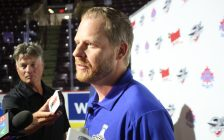 St. Louis Blues assistant coach and former Windsor Spitfire Steve Ott meets with reporters at the WFCU Centre, July 25, 2019. Photo by Mark Brown/Blackburn News.