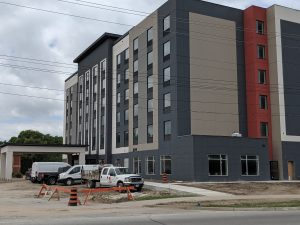 Holiday Inn Express on Venetian Boulevard in Point Edward. July 12, 2019 (Photo by Josh Boyce)