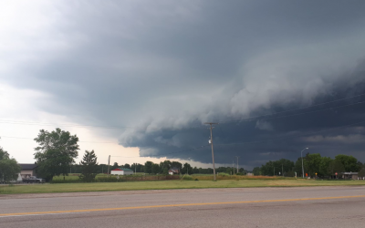Thunderstorm clouds near Strathroy. July 2019. (BlackburnNews photo by Colin Gowdy)