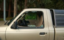 Vehicle with window smashed by thieves. File photo courtesy of © Can Stock Photo / Marcopolo