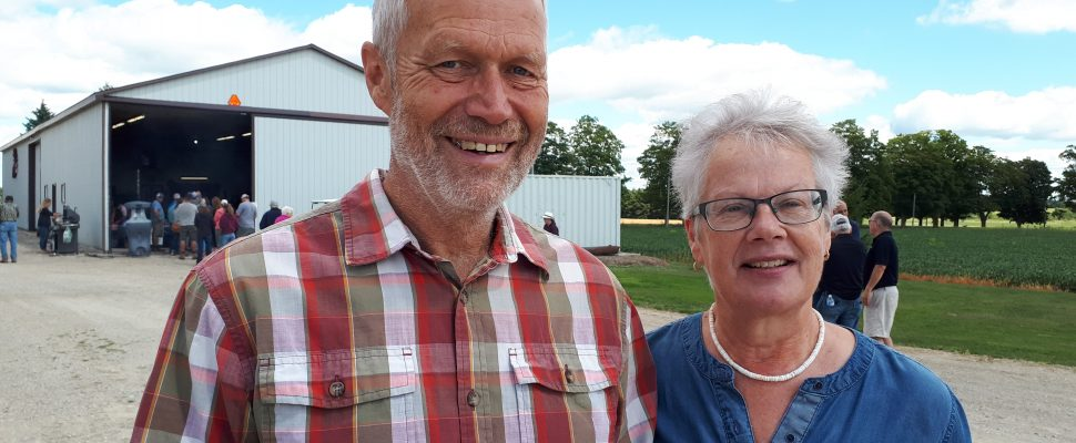 Hosts of the 2019 Huron County Plowing Match, Ray and Anita Dykstra of Howick Township. Photo by Bob Montgomery.