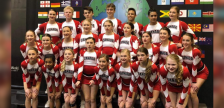 Team Canada Junior Coed Advanced Cheerleading team at the 2019 ICU World Championship. April 24, 2019. (Photo by Team Canada Cheerleading)