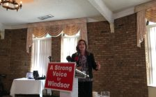 Sandra Pupatello officially announces her intention to seek the Liberal nomination for Windsor West in the 2019 federal election, at the Fogolar Furlan Club, August 16, 2019. Photo by Paul Pedro/Blackburn News.