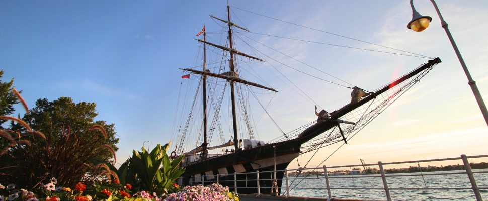 The Fair Jeanne was the first to arrive in Sarnia this week for the Tall Ships Festival Aug 9-11 (BlackburnNews.com photo by Dave Dentinger)