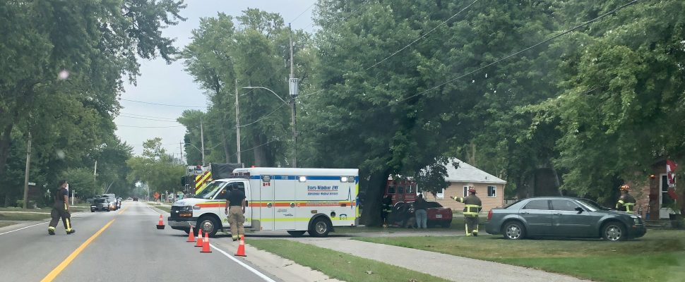 Fire in Tecumseh on August 20, 2019. (Photo by Allanah Wills)