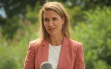 Ontario Minister of Transportation and Francophone Affairs Caroline Mulroney in Leamington, August 12, 2019. Photo by Mark Brown/Blackburn News.