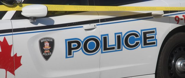 Windsor police cruiser and tape, August 30, 2019. Photo by Mark Brown/Blackburn News.