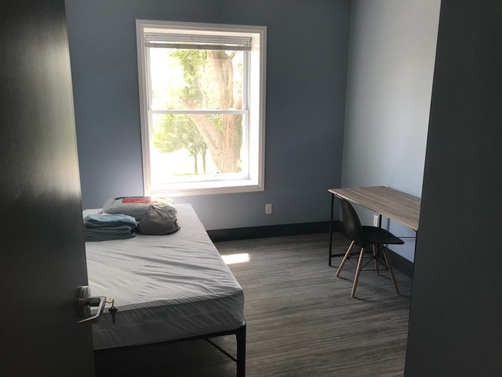 A bedroom in one of the new apartments at the former ABC Daycare in Sarnia. August 8, 2019 Photo by Melanie Irwin