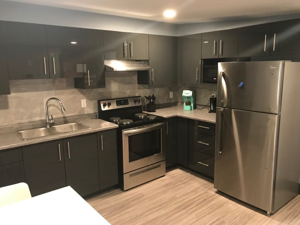 A kitchen in one of the new apartments at the former ABC Daycare in Sarnia. August 8, 2019 Photo by Melanie Irwin