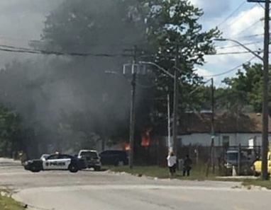 Fire on Campbell Street. August 9, 2019 Photo courtesy of Charlotte Cooper