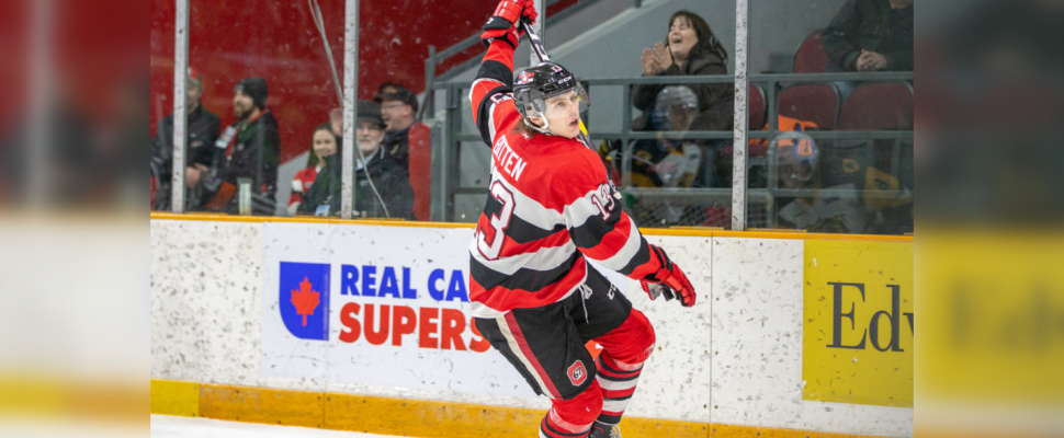 The Sting acquire Sam Bitten from the Ottawa 67's Aug. 14, 2019 (Photo courtesy of Sarnia Sting)